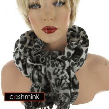 BYRNA Luxe Cashmink Crinkle Sjaal kleur grijs