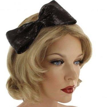 Haarversiering CUPIDO Supergrote strik op haarbeugel kleur zwart