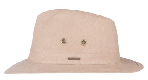Hatland Yannick linnen zomerhoed met  maximale UV protectie 50+ kleur khaki zand