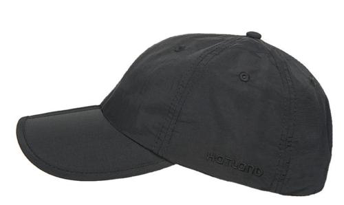 Hatland CLARION zomerpet maximale UV-protectie met vouw in de klep kleur zwart