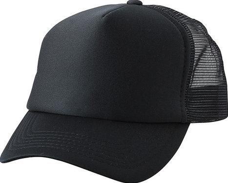 Kinderpet trucker pet mesh cap kleur zwart maat kids