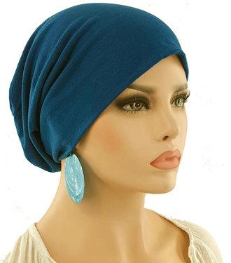 Chemomuts beanie kleur petrol blauw