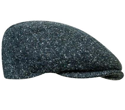 Winter flatcap herenpet met klep antraciet melee