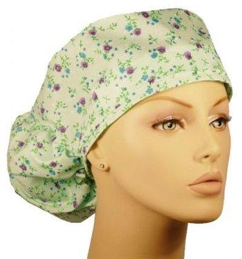 BANDANACAP SPRING FLOWERS Extra grote bandana voor lang haar
