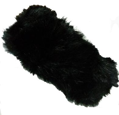 Isabella Fake Fur Hoofdband zwart en bruin
