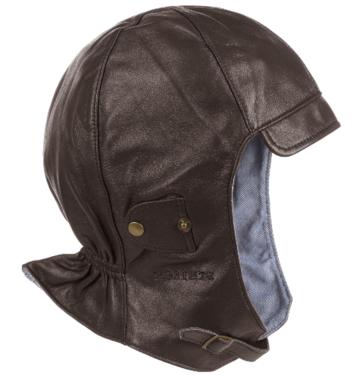 Stetson bruine Convertible cap Cabrio cap van soepel nappaleer in bruin en zwart