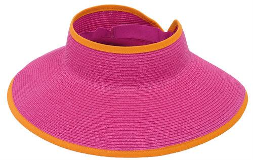 Opvouwbare zonneklep JUDE van Herman Headwear kleur fuchsia-roze