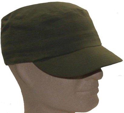 FLEX FIELD CAP dichte achterkant in olive en zwart