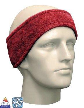Fleece hoofdband unisex kleur rood