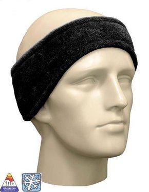 Fleece hoofdband unisex kleur zwart