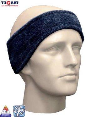 Fleece hoofdband unisex kleur blauw
