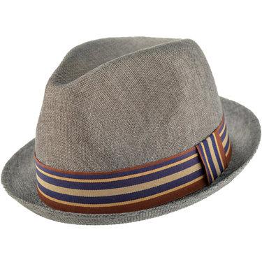Major Wear up brim trilby porkpie hoedje zomerhoedje in grijs