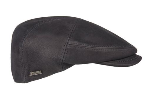 Philip leren pet in kleur zwart van Hatland Headwear
