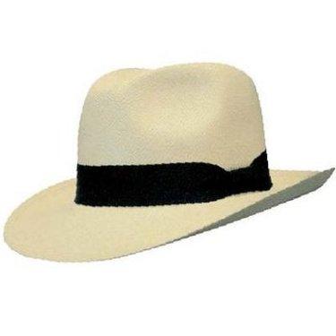 ORTEGA Handgemaakte Panama hoed in klassiek Fedora model