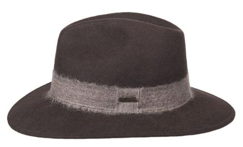Hatland Sally crushable woolfelt hoed kleur grijs antraciet