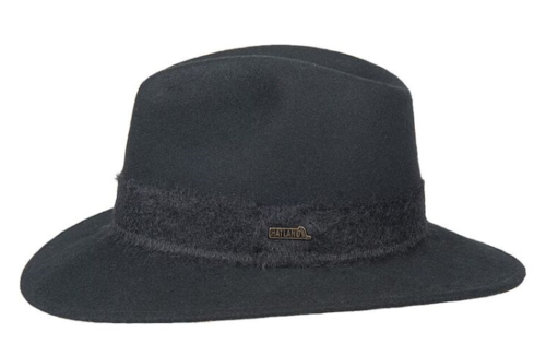 Hatland Sally crushable woolfelt hoed kleur zwart