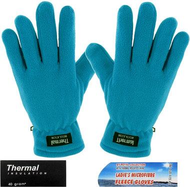 Thermal fleece handschoenen kleur blauw