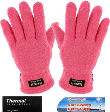 Thermal fleece handschoenen kleur roze