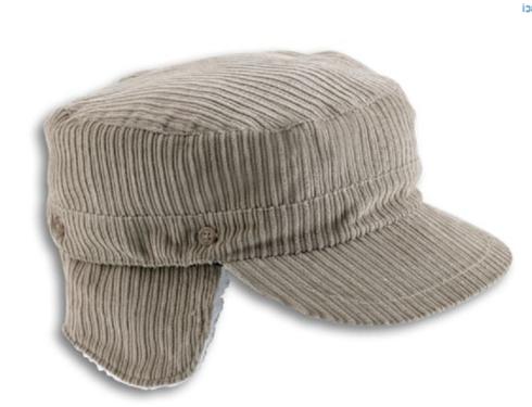 Warme cadet cap met oorflappen corduroy