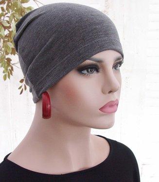 Chemo haarverlies basismuts slaapmuts grijs gemeleerd