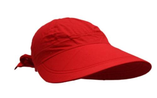 LILI DAMES ZOMERPET met grote klep kleur rood