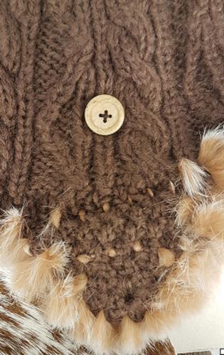 Wintermuts by Herman met bontrandje kleur bruin