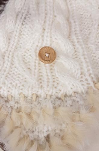 Wintermuts by Herman met bontrandje kleur wolwit