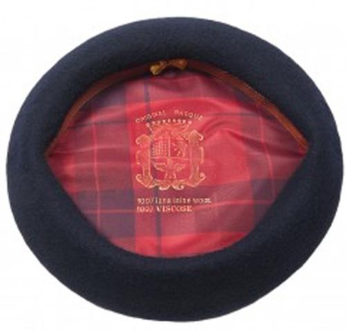 Alpino pet wollen baret van Hatland Headwear kleur Navy blauw