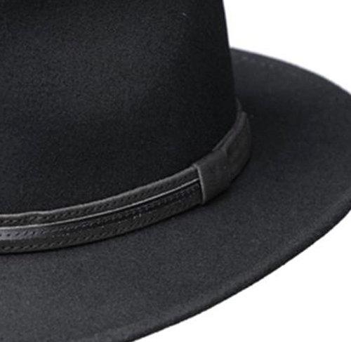 Zwarte wollen outdoorhoed van het merk Fiebig