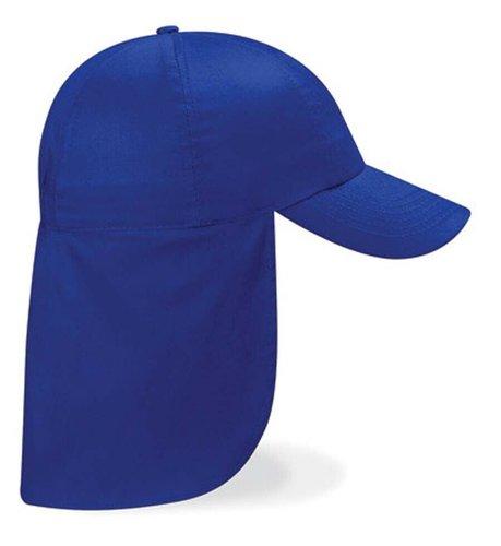 Kinderpet van katoen met nekflap nekbescherming in drie kleuren