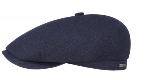 Prachtige Stetson 6-Panel cap wool cashmere kleur blauw