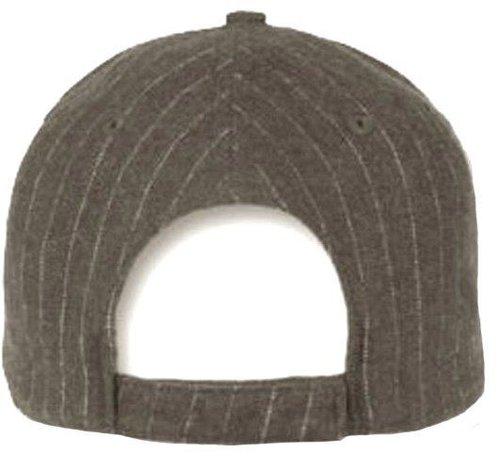 Piccadilly Grigio grijze baseball cap met pinstripe