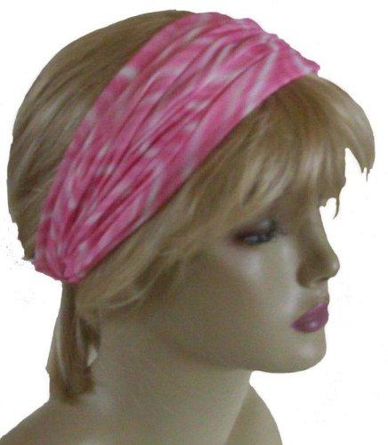 Multifunctionele haarband kleur batik lichtroze
