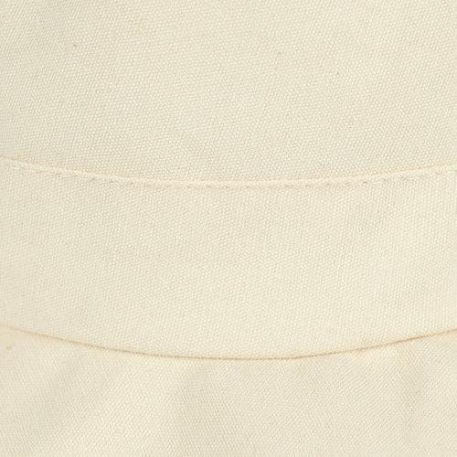 Opvouwbare katoenen zonnehoed met extra brede rand kleur beige met kinkoord