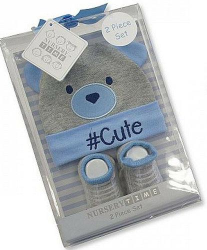 Baby giftset kadoset voor een jongen kleur blauw