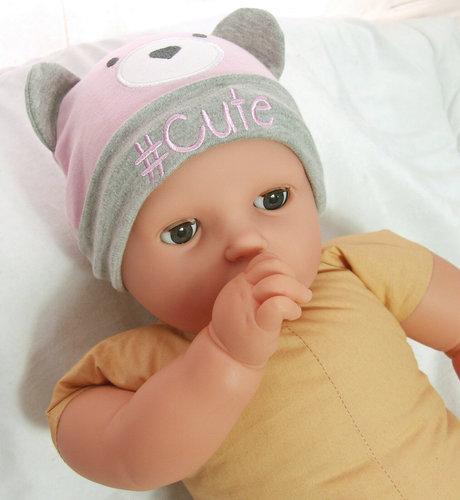 Baby giftset kadoset voor een meisje kleur roze