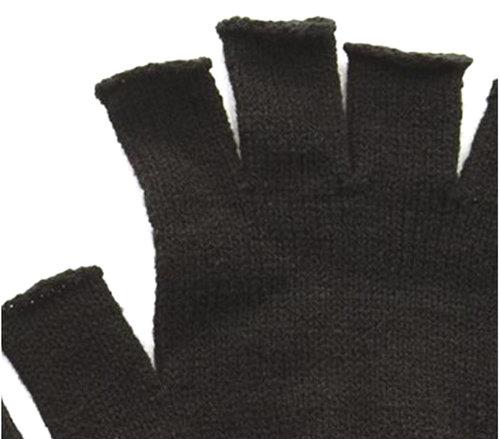 Zwarte vingerloze vintage heren handschoenen