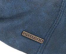 Hatland VERNO Leather leren pet in kleur navy blauw