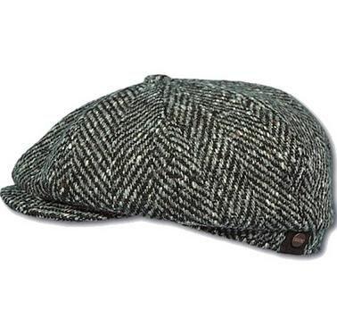 HATTERAS Fishbone  Oversized wollen Flat cap van STETSON