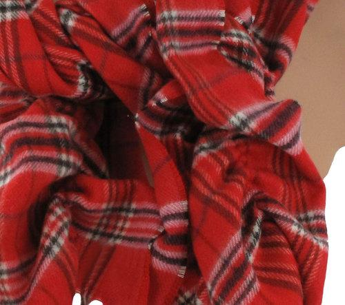 BORA Luxe Cashmink Nova Check Dames Sjaal kleur rood
