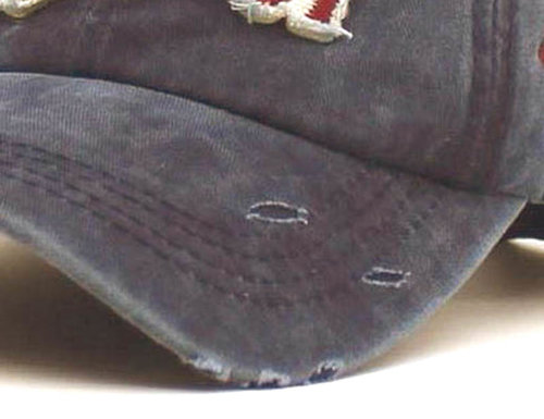 Washed Vintage Distressed Baseball cap met patches