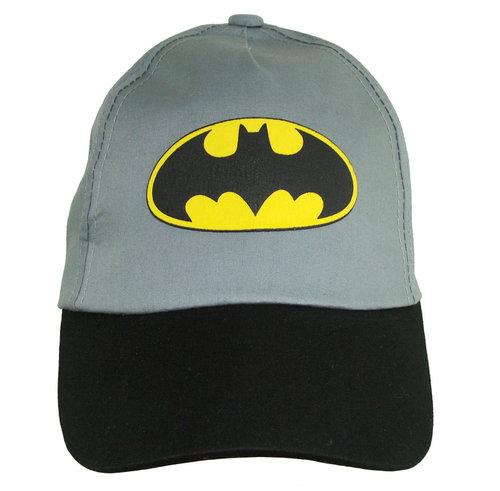 Kids jongenspet Batman katoenen cap kleur grijs