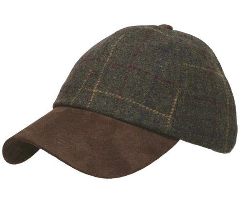 Macahel gevoerde baseball cap klassieke ruit
