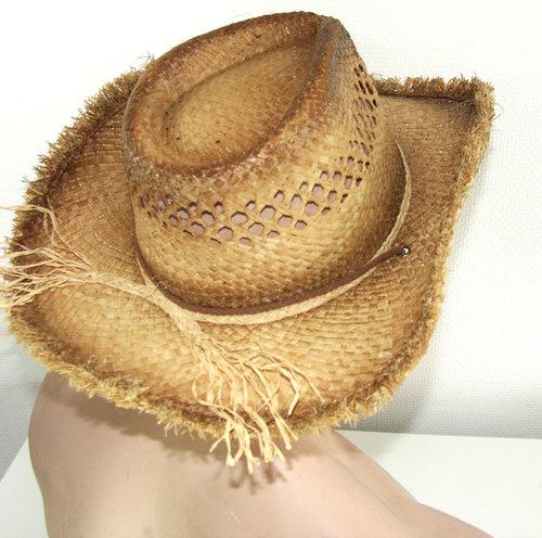 Cowboyhoed strohoed zomerhoed herenhoed kleur naturel