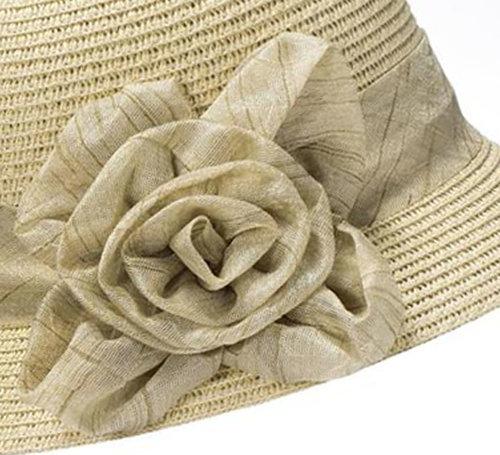 Cloche jaren 20 style van toyostro kleur naturel met bloem