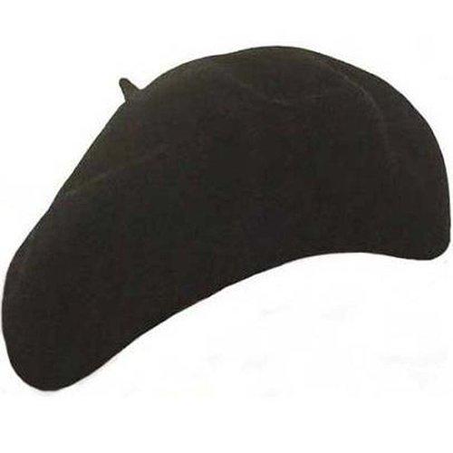 Alpino baret van 100% wol in zwart