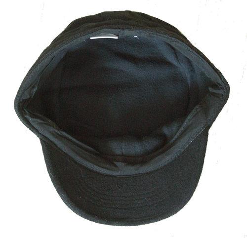 Wollen zwarte army winterpet van het merk Fiebig