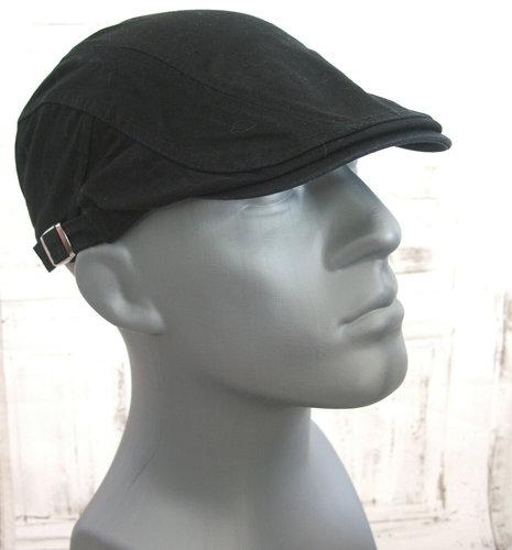 Zwarte heren zomerpet katoen zwart petten voor heren