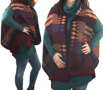poncho mexicaanse print