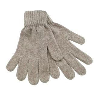 chenille handschoenen naturel dames